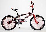 BICI BICICLETTA BMX FREESTYLE IBK 20' MONOVELOCITA' STERZO 360° (Rosso)