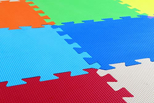 Balance From Kid's Puzzle Exercise Play Mat with EVA Foam Interlocking Tiles, 9 Colors (36 Tiles)