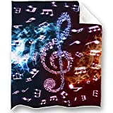 Loong Design Music Band Throw Blanket Soft Fluffy Premium Sherpa Fleece Blanket 50'' x 60'' Fit for Sofa Chair Bed Office Travelling Camping Gift