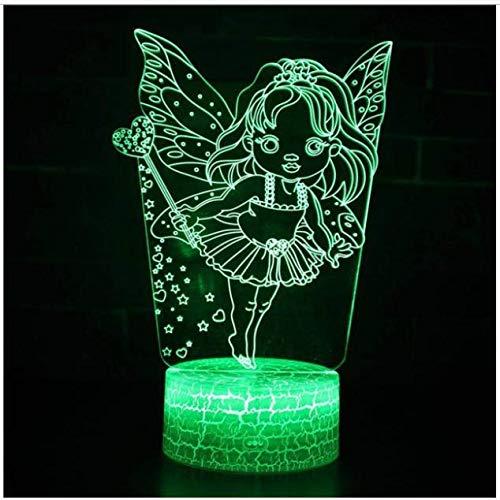 Belle 7 changement de couleur 3D lampe décorations de Noël cadeau pour chambre de bébé s'allume chevet Usb Led nuit lumière pour enfants cadeau