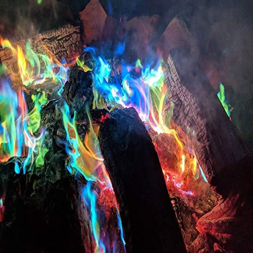 Mystical, zout voor kleurrijk vuur, 1 pakje FIRE gekleurde vlammen, voor houtvuur in open haard of vuurschaal