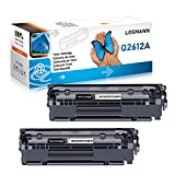 LOSMANN 2x Toner Compatible para Q2612A 12A FX9 FX10 CAN703 para HP Laserjet 1010 1012 1015 1018 1020 1022 1022N 1022NW 3015 3015AIO 3020 3020AIO 3030 3030AIO 3050 3050Z 3052 3055 M1005MFP M1319FMFP
