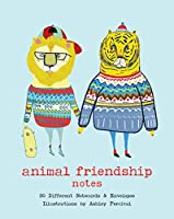 Animal Friendship Notes: 20 Different Notecards & Envelopes