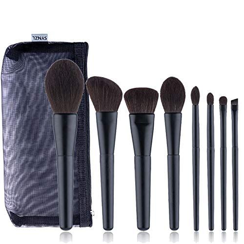 Cosmétique Brush, Pinceaux Fards à Paupières | Sourcils Pinceaux Cosmétique Fondation Outils de Maquillage du Visage 8pcs / Set (Noir)