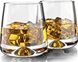 MOFADO Crystal Whiskey Glasses - Modern/Tapered - 11oz (Set of 2) - Hand Blown Crystal - Thick...