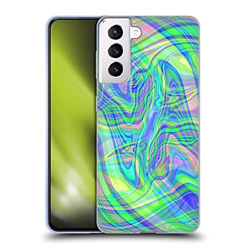 Head Case Designs Licenza Ufficiale Suzan Lind Verde Porpora Marmoreo Cover in Morbido Gel Compatibile con Samsung Galaxy S21+ 5G