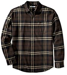 """Allover plaid and midweight flannel make this button-up shirt a go-to pick when the temperature drops Patch chest pocket, rounded hem and barrel cuffs Same fit, new name: We've changed the name of this shirt style to """"Regular Fit"""" but the measurement..."""
