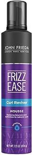 John Frieda Frizz Ease Curl Reviver Mousse, 7.2 Ounces, Enhances Curls, Soft Flexible Hold, Volumizing Mousse for Curly or...