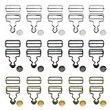 15 Juegos Hebillas De Peto Hebillas De Metal Braces Ajustador Braces Hebilla Hebillas De Peto De Metal Sujetadores Deslizantes Para Tirantes, Correas, Petos, Bolsos De Mano, Chaquetas, Monos