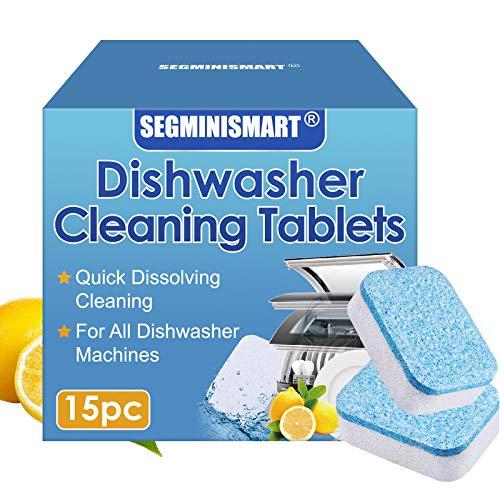 Limpiador para lavavajillas,Pastillas para el lavavajillas,Limpiamáquinas,Pastillas para el Lavavajillas todo en 1, Fragancia Limón