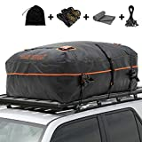 SAN HIMA Rooftop Cargo Carrier Bag - 20 Cubic Feet Waterproof Cargo Carrier with Anti-Slip Mat + 2 Reinforced Straps + 4 Bungee Cords for All Vehicle with Rack & Truck Bed
