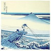 甲州石斑沢 浮世絵 ハンカチーフ 約48×48cm 綿100% 弁当包み 手ぬぐい ほんぢ園 日本製 z