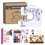 Machine à Coudre pour Débutant avec Kit de Couture y Matériaux de Bricolage du Sac avec 12 Types de Points