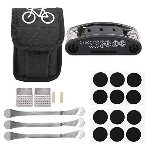 minifinker Kit de reparación de neumáticos portátil con Palanca de neumáticos, para Bicicletas de montaña, Bicicletas de Carretera