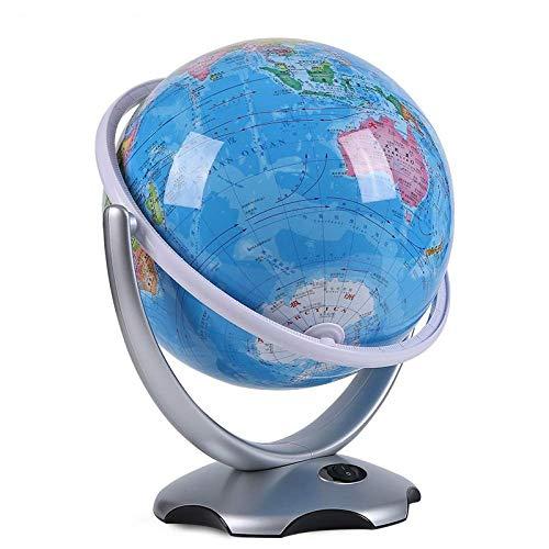 MHCYKJ 26cm globus mit konstellation globus tischlampe dekoration spielzeug home HD stereo universal rotierenden kreative wohnzimmer leuchtende dekoration