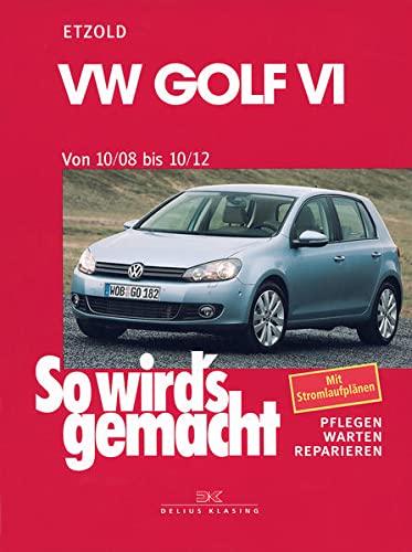 VW Golf VI 10/08-10/12: So wird's gemacht, Band 148: Benziner 1,2l/ 63kW (85 PS) 6/10-10/12 bis 2,0l/199kW (270 PS) 12/09-10/12. Diesel 1,6l/ 66kW (90 ... bis 2,0l/ 125kW (170 PS) 5/09-10/12