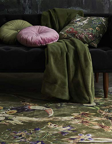 ESSENZA Dekokissen Quadratisch Airen Dschungel Polyester Moss, 50x50 cm
