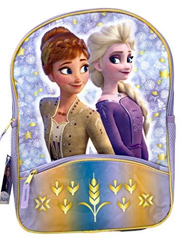 Frozen 2 Elsa & Anna 16' Backpack with 1 lower front pocket- FRBK
