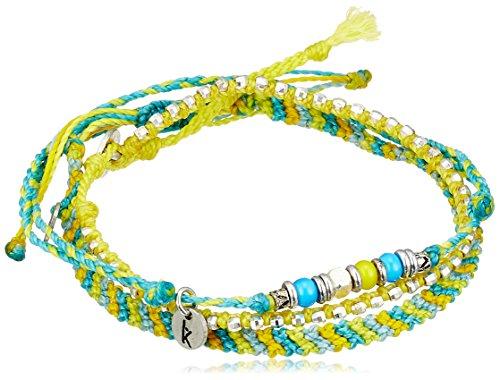 [ワカミ] wakami アンクレット 3 Strand Stone Anklets Yellow Cyan WA-BC17011