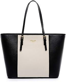 Fashion Shoulder Bag For Women Stylish Black And White HandBag European Style Ladies Tote Bag