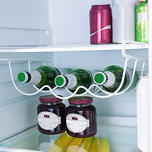 JIALI Estante para botellas de vino para frigorífico, antideslizante, de estabilidad, suministros de cocina, ahorro de espacio, deslizante, organizador para el hogar