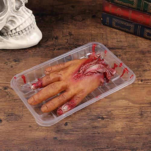 NUOBESTY Halloween Blutig Abgetrennte Hand Falsche Füße Streich Requisite Gruselige Körperteile für Spukhaus Halloween Zombie Party Dekorationen