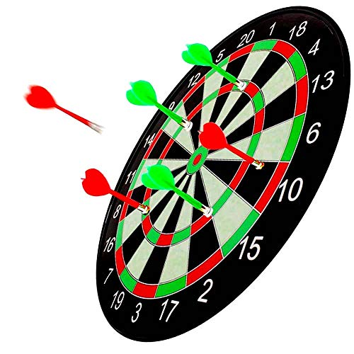 CCLIFE Magnetic Dart Set with Dartboard and 6 Darts 17 inch