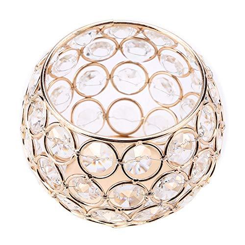 SOONHUA Portavelas de cristal, candelabros para decoración del hogar, portavelas de oro para bodas, fiestas