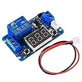 Módulo electrónico Módulo de relé de retardo de tiempo de activación con pantalla digital LED 0-999S 0-999min 0-999H retraso en el trabajo/retraso-trabajo 12V Equipo electrónico de alta precisión