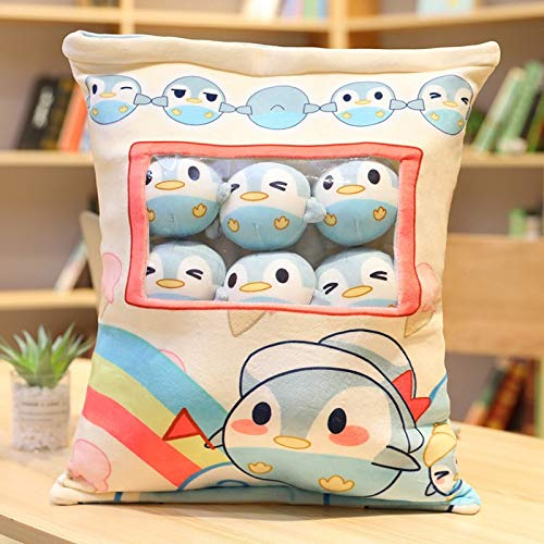 N / A Una Bolsa de 8 Piezas Snack Puddiing Suave Juguete de Felpa Corgi Conejo pingüino Aguacate Almohada de Felpa Creativa Anime Throw Pillow muñeca de Dibujos Animados 35x45cm