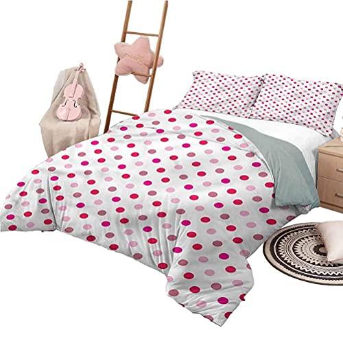 Bett Set voller Größe Polka Dots Leichte Ganzjahres-Tagesdecke Regelmäßige Reihe von Punkten