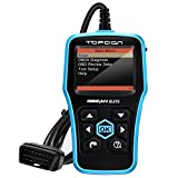 Code Reader TOPDON PLUS Diagnostic Scan Tool Full OBDII Functions in Graphical Display DTC Lookup Turn off MIL plus Prints Data + Free Upgrade