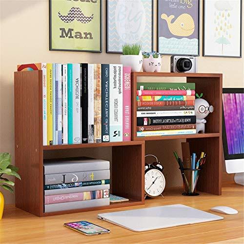 Mini estantes de escritorio de madera Tabla DIY ajustable de escritorio Estantería independiente Organizador de escritorio Estantería de almacenamiento en rack for estudiantes Rack organizador de lite