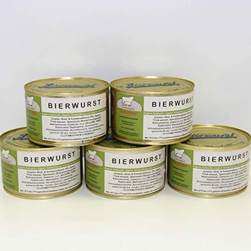 Bierwurst 5x400g Dose, glutamatfreie Dosenwurst, Vorteilsset, Vorratsset, Landmetzgerei Sandritter