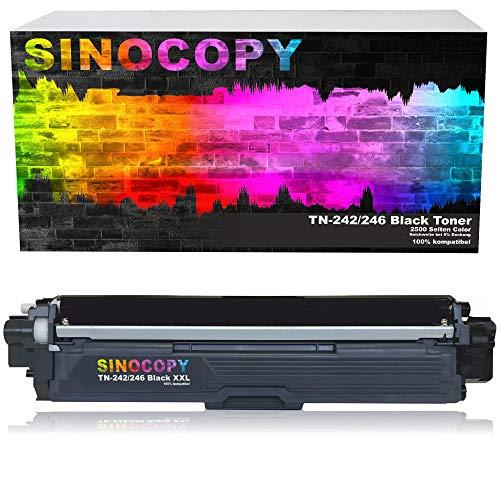 SinoCopy Black XXL Toner für Brother TN-242 TN-246 HL-3142 3152 3172 CW CDW DCP9017CDW - Schwarz je 2.500 Seiten, Color je 2.200 Seiten TN 242 TN-242 TN 246 TN-246