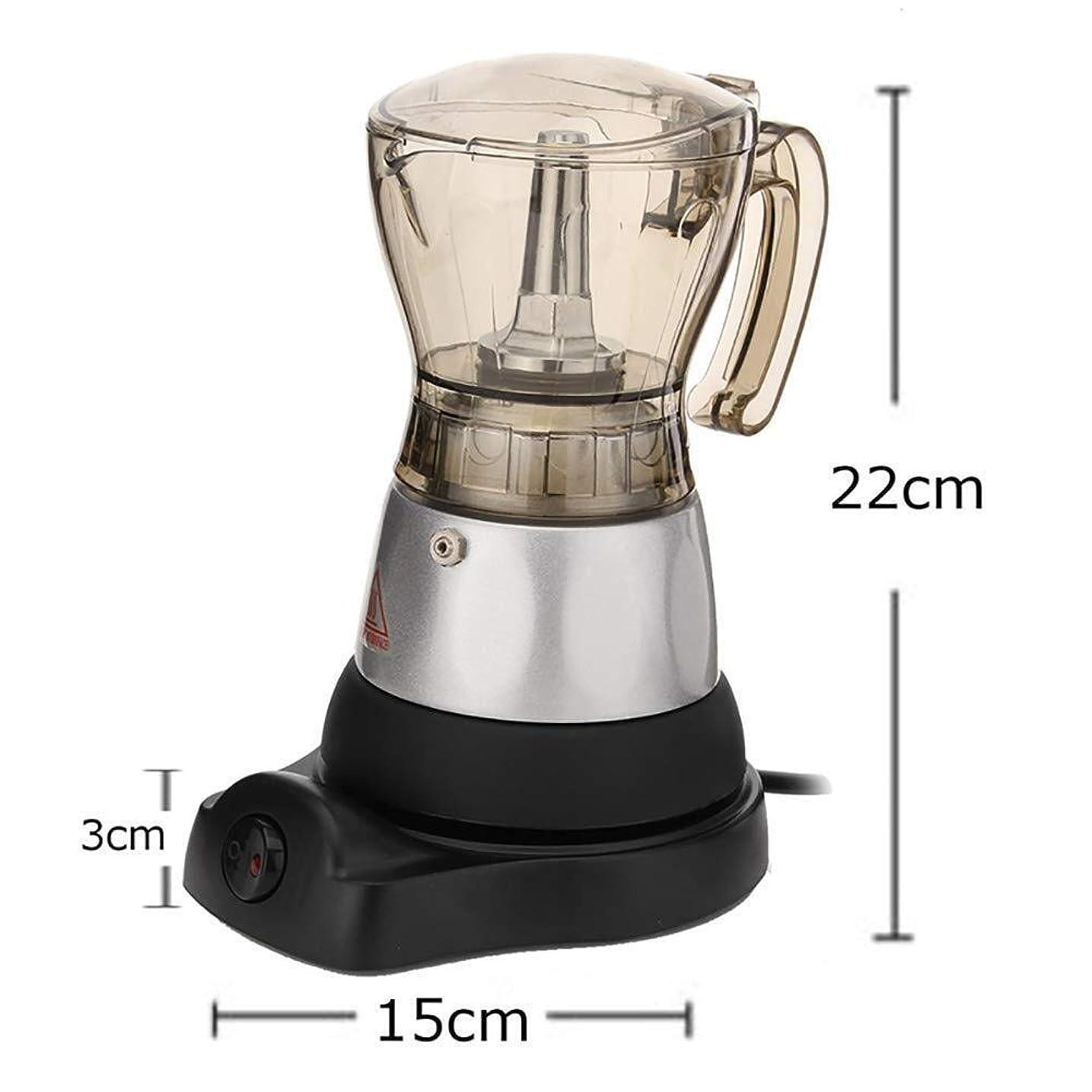 わずかな打撃感嘆符YLSP イタリアモカコーヒー、エスプレッソマシン、合金材料で作られた半自動、電気、食用ポット、上部ポットアクリル酸、良好な靭性ではなく、脆いは、エスプレッソコーヒーをカップ4は、家庭を洗浄することができます