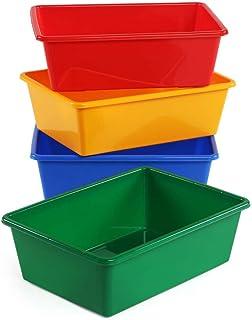 Tot Tutors Kids' Primary Colors Large Storage Bins, Set of 4 (Renewed)