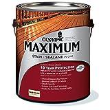 オリンピックマキシマム ソリッド(塗りつぶし) アウトサイドホワイト 3.78L 木材保護塗料 調色缶