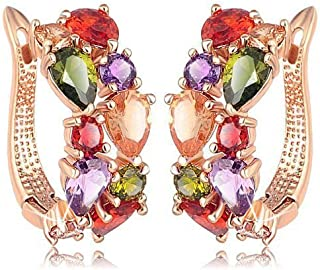 01b315f13 YouBella Stylish Party Wear Jewellery Gold Plated Hoops Earrings for Women  (Multi-Colour)