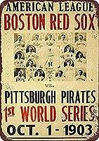 Red Sox Pirates ティンサイン ポスター ン サイン プレート ブリキ看板 ホーム バーために