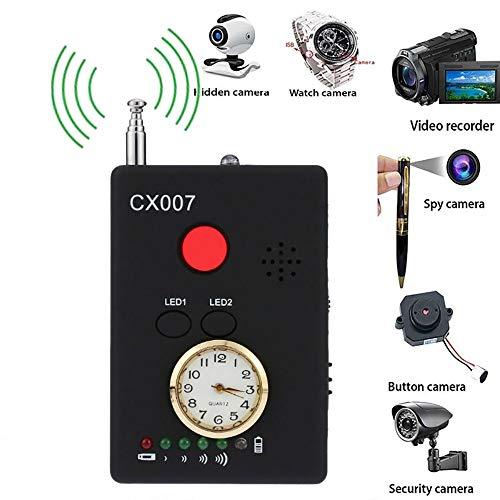 Hangang Multifunctional Anti-Spy Full-Range RF Wireless Signal Radio Detector Hidden Camera Auto-détection Tracer Finder Adjustable Sensitivity