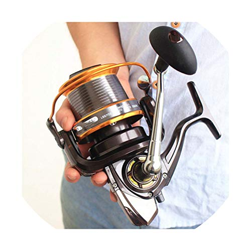 Carp Fishing Reel Spinning Reel Fishing Wheel 12+1Bb Left/Right Lj9000 Sea Metal 4.11:1 Carp Fishing Carretilha De Pesca,13,9000 Series