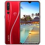 Pantalla de 6,3 pulgadas P38pro gota del agua de la huella digital del reconocimiento de cara Smartphone 2 + 32GSim gratuito Desbloquear teléfono inteligente de batería 4000mAh 8 millones de cámaras d