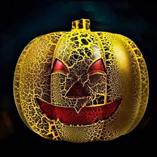Find Bargain HBJP Jack O Lantern Color Changing Pumpkin Light Multifunctional Halloween Decorative P...