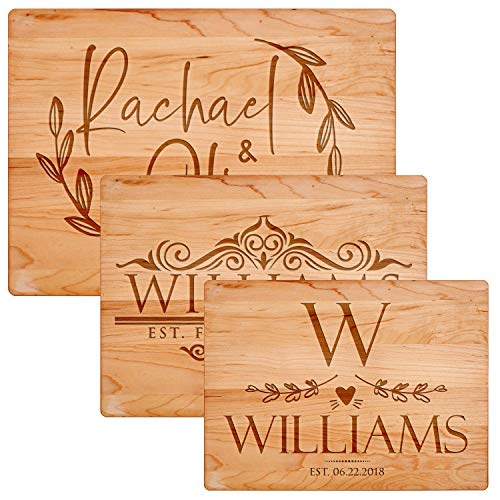 Personalized Cutting Board - 11 Designs, 3 Sizes, 2 Colors, Flat Cutting Board - Wedding Gifts for...