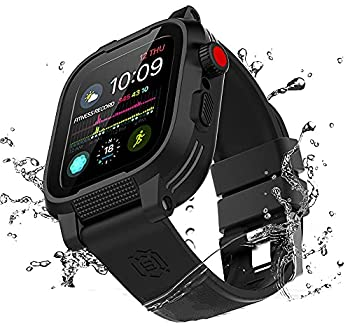 Waterproof Apple Watch Case 40mm Series 6 / SE / 5 / 4 with Premium Bands Built-in Screen Protector Full Body Rugged iWatch Protective Case Anti-Scratch Drop Shock Proof Apple Watch Case  40mm