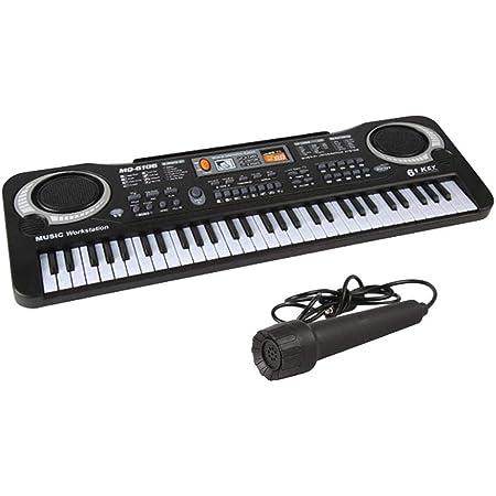 QUUY Portátil de 61 Teclas del órgano electrónico con micrófono simulado Teclado, música de Piano de Juguete, Juguete del Instrumento Musical para ...