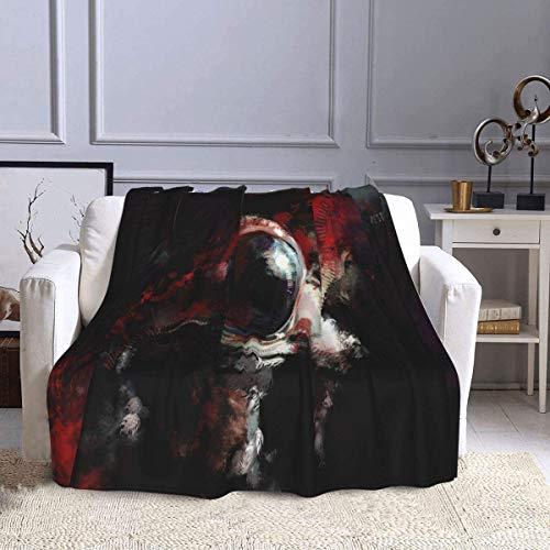 CANMA Manta de franela cálida de astronauta utilizada para la decoración del hogar del sofá, manta mullida de felpa suave apta para 4 estaciones
