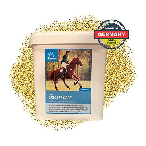EMMA® Skelett Care Zusatzfutter I MSM Pulver Pferd I + Bierhefe I Calcium Vitamin C K 3 Knochenaufbau & Phosphatstoffwechsel I Gelenk komplex I Schwefelpulver Sehnen Gelenke Pferd 3 Kg