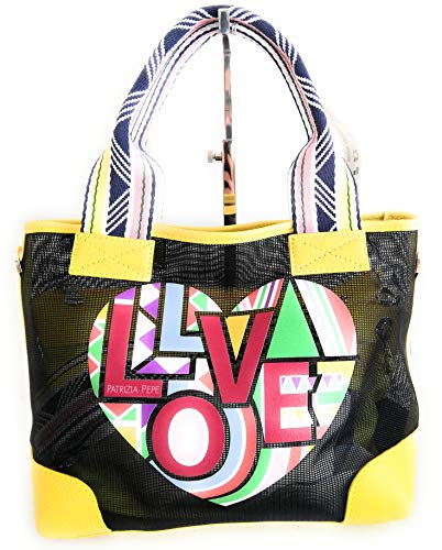 PATRIZIA PEPE bolso shopping tejido con correa y bolsa 100% PL 2V7766 precio retail med. 27 x 22 cm.